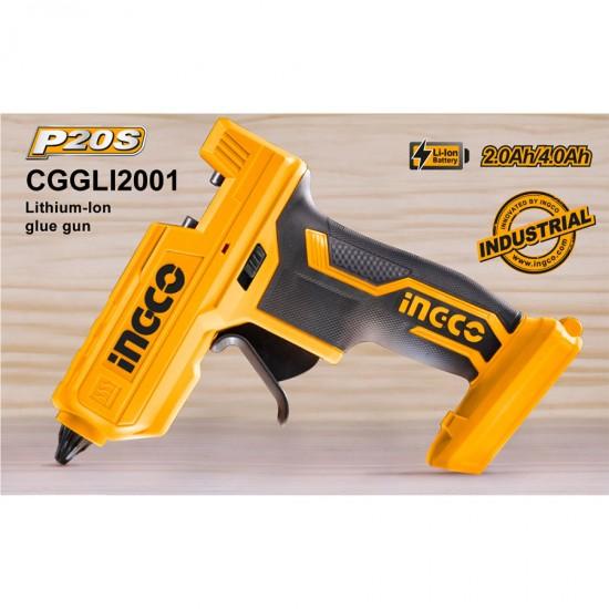 Πιστόλι Θερμοκόλλας Μπαταρίας 20V Li-Ion SOLO CGGLI2001 INGCO