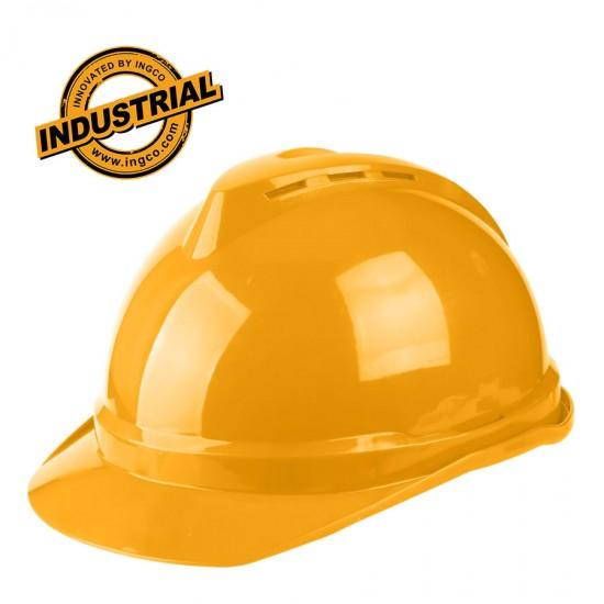 Κράνος Ασφαλείας Επαγγελματικό με Προστασία 4 Σημείων Κίτρινο HSH201 INGCO