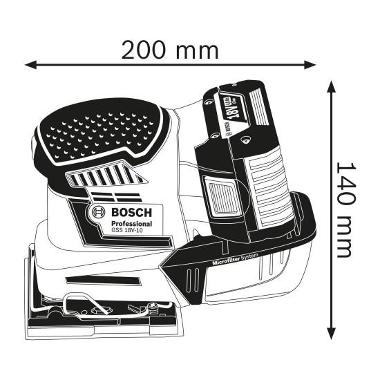 GSS 18V-10 Παλμικό τριβείο μπαταρίας + L-BOXX BOSCH