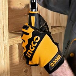 Γάντια Μηχανικών με Ενισχυμένη Επένδυση Επαγγελματικά HGMG02-XL INGCO