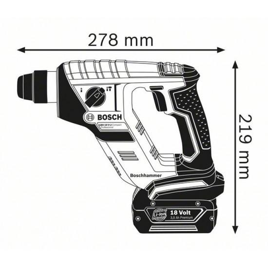 GBH 18 V-LI Compact Περιστροφικό πιστολέτο μπαταρίας με SDS plus SOLO + L-BOXX BOSCH