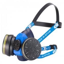 Μάσκα προστασίας αναπνοής διπλού φίλτρου Climax 757