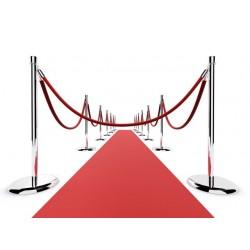 Σχοινί πλεγμένο nylon μήκους 150cm κόκκινου χρώματος με ασημί γάντζο NRS-150
