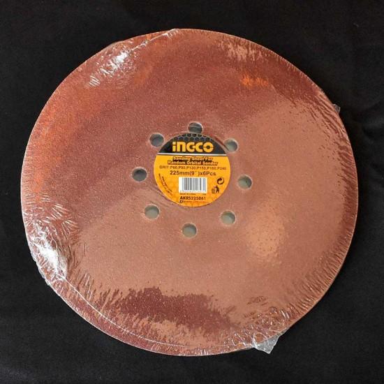 Σετ Φύλλα Λείανσης 6τεμ 225mm AKRS225061 INGCO