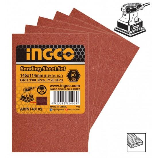 Σετ Φύλλα Λείανσης 5 τεμ AKFS140102 INGCO
