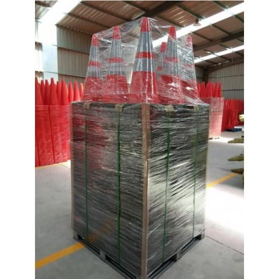 Κώνος σήμανσης εύκαμπτος ύψους 70cm από PVC KDH-TC-70