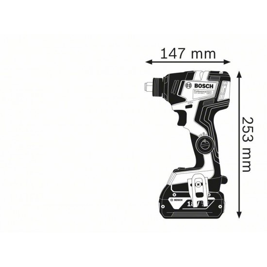 GDX 18V-200 C Κρουστικό δραπανοκατσάβιδο / μπουλονόκλειδο μπαταρίας SOLO + L-BOXX BOSCH