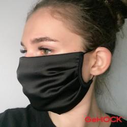 Υφασμάτινη μάσκα με τριπλό ύφασμα μαύρη 60-ΜΚ20B
