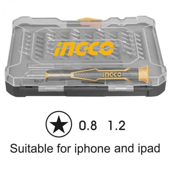 Κατσαβίδια Σετ 32 Τεμ Ειδικό για κινητά τηλέφωνα όπως Iphone και Ipad HKSDB0348 INGCO