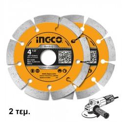 Δίσκος Διαμαντέ Δομικών 115mm DMD0111523 INGCO