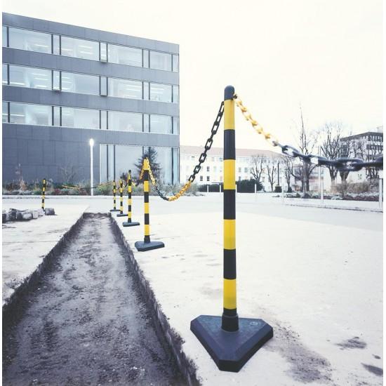 Κολώνα σήμανσης πλαστική ύψους 90cm με βαριά πλαστική βάση γεμάτη με τσιμέντο KDH-PC-4