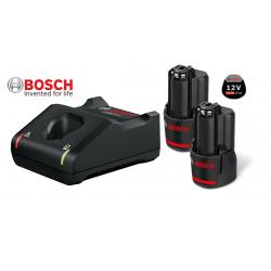 2 x GBA 12V 3.0Ah Μπαταρίες + GAL 12V-40 Φορτιστής BOSCH