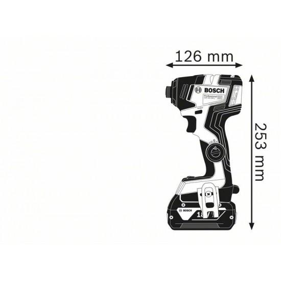 GDR 18V-200 C Περιστροφικό Kρουστικό Kατσαβίδι Mπαταρίας SOLO + L-BOXX BOSCH