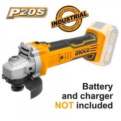 Γωνιακός Τροχός Μπαταρίας 20V Επαγγελματικό 20V χωρίς μπαταρία και φορτιστή CAGLI1151 INGCO