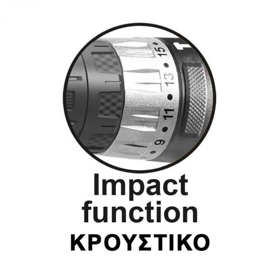 Κρουστικό Δραπανοκατσάβιδο Μπαταρίας 20V + 2x2.0Ah + 50 Εξαρτήματα CIDLI20025 INGCO
