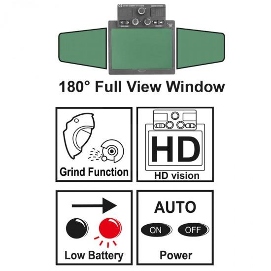 Επαγγελματική Ηλεκτρονική Μάσκα Ηλεκτροσυγκόλλησης Πανοραμική AHM001 INGCO
