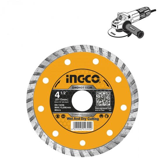 Διαμαντόδισκος Turbo Ξηράς και Υγρής Κοπής  DMD031152M INGCO