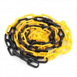 Πλαστική αλυσίδα σε κίτρινο και μαύρο χρώμα μήκους 25 μέτρων KCH-25-YB