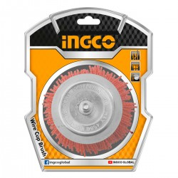 Nylon Βούρτσα με Άξονα για Δράπανο Φ 75mm WB30755 INGCO