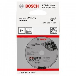 Δίσκοι Κοπής 76mm για GWS 10.8 V-EC 5 Τεμάχια BOSCH