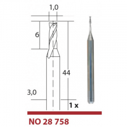 Φρεζα Καρβιδιου-βολφραμιου 1 mm Proxxon
