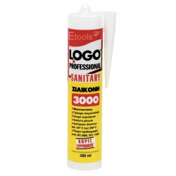 Σιλικόνη διάφανη Sanitary 3000 Logo 280 ml