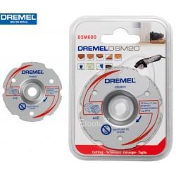 DSM600 DREMEL Δίσκος ισόπεδης κοπής καρβιδίου πολλαπλής χρήσης