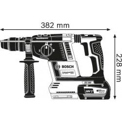GBH 18V-26 BOSCH Κρουστικό Πιστολέτο Μπαταρίας SOLO + L-Boxx