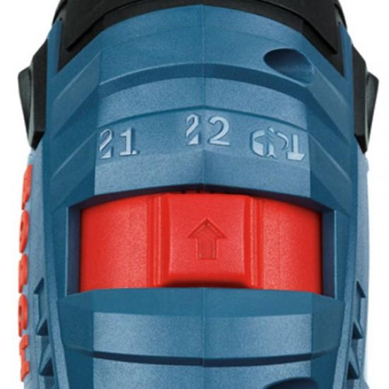 GDR 18 V-LI MF BOSCH Δραπανοκατσάβιδο Μπαταρίας + L-Boxx + 2x4.0 Ah Li-Ion