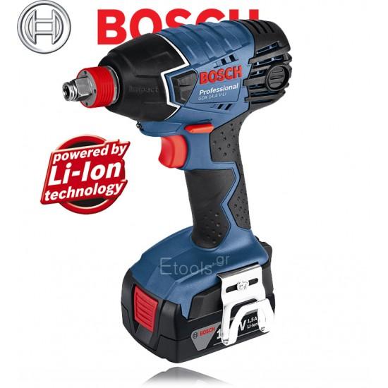 GDX 14,4 V-LI Bosch Περιστροφικό κρουστικό κατσαβίδι μπαταρίας