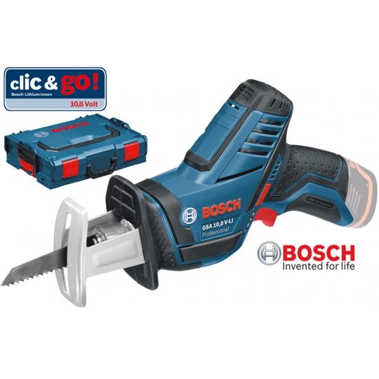 GSA 12 V-14 Bosch Σπαθοσέγα Μπαταρίας SOLO + L-Boxx