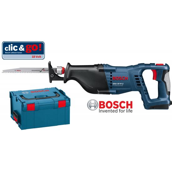 GSA 18 V-LI BOSCH Σπαθόσεγα μπαταρίας SOLO + L-Boxx