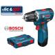 GSR 12 V-EC Δραπανοκατσάβιδο μπαταρίας BOSCH SOLO + L-Boxx