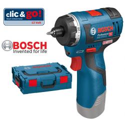 GSR 12V-20 HX Κατσαβίδι μπαταρίας BOSCH SOLO + L-Boxx