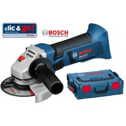 GWS 18 V-LI BOSCH Γωνιακός λειαντήρας μπαταρίας SOLO + L-Boxx