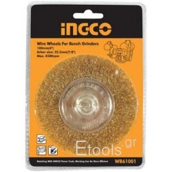 Συρματόβουρτσα Ρόδα με άξονα για δράπανα INGCO