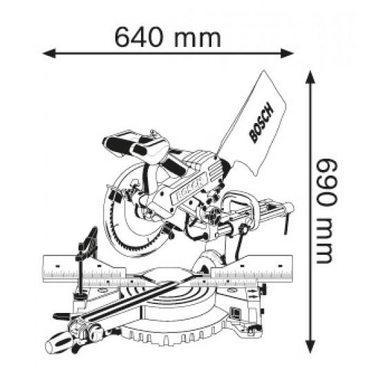 GCM 10 SD BOSCH Φαλτσοπρίονο RADIAL