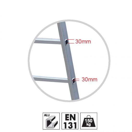 Σκάλα Αλουμινίου GeHOCK 8 Σκαλοπάτια 59-605008