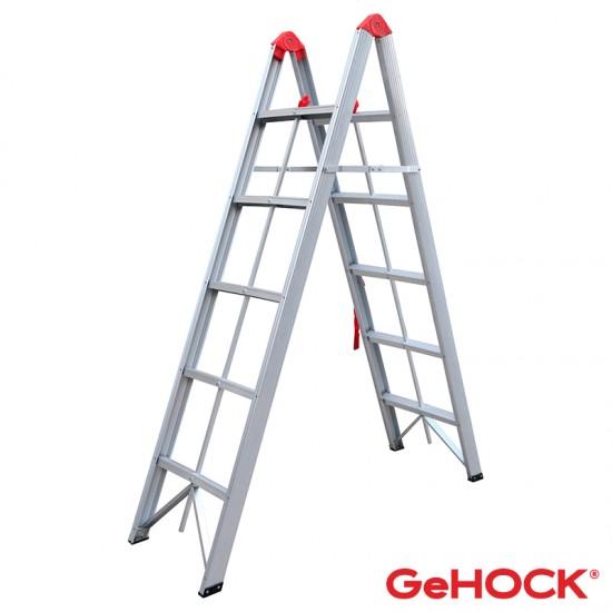 Σκάλα Αλουμινίου Διπλή Αναδιπλούμενη 5 Σκαλοπάτια 59-608005