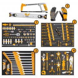 Επαγγελματικός Εργαλειοφόρος με 162 τεμ Εργαλεία Με 7 Συρτάρια INGCO