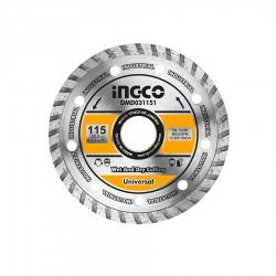 Δίσκος διαμαντέ TURBO 115mm Δομικών Υλικών Industrial INGCO