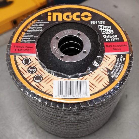 Δίσκος Λείανσης Fiber P60 115mm FD1152 INGCO