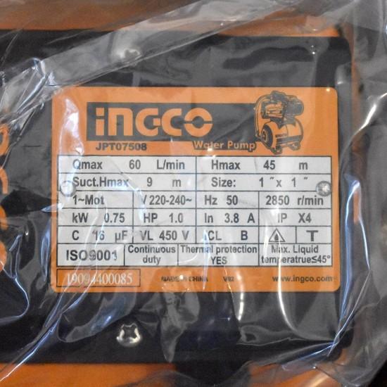 Πιεστικό Συγκρότημα Νερού 750W JPT07508 INGCO