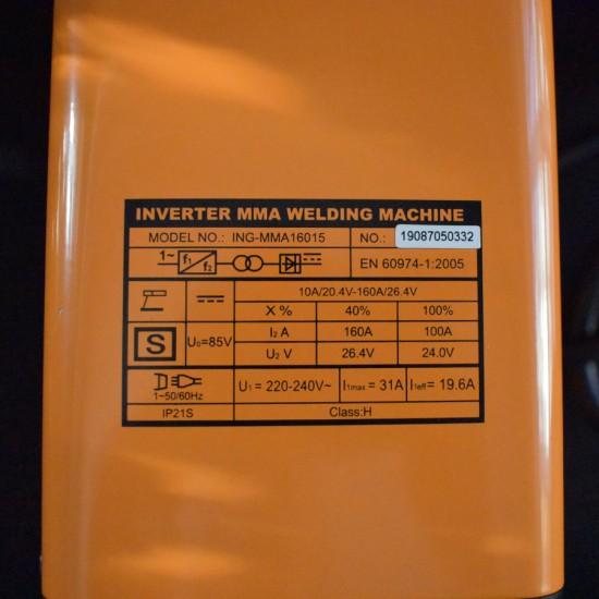 Ηλεκτροκόλληση Inverter 160Α MMA16015 INGCO