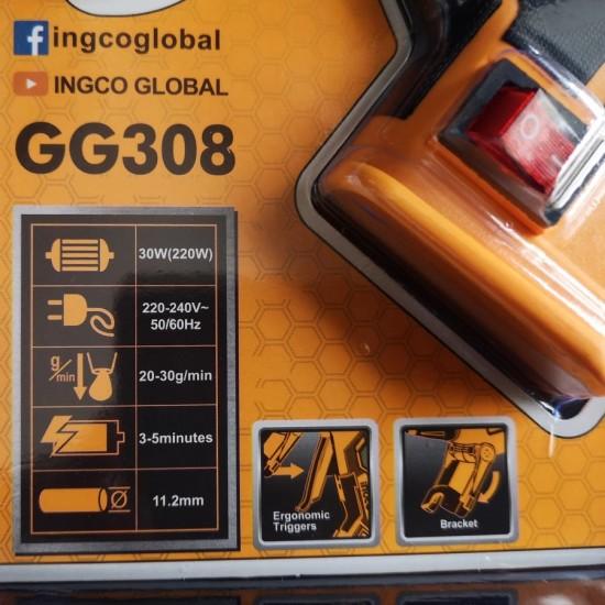 Ηλεκτρικό Κολλητήρι Θερμόκολλας 30W Επαγγελματικό GG308 INGCO