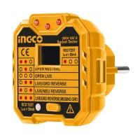 Όργανο ελέγχου ορθής καλωδίωσης πρίζας HESST30002 INGCO