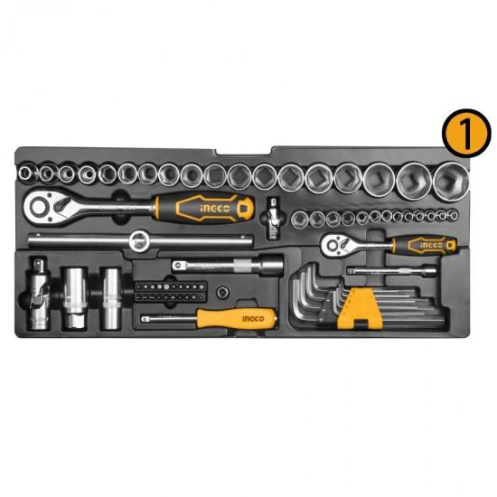 Εργαλειοθήκη με Εργαλεία 97 τεμ HTCS220971 INGCO