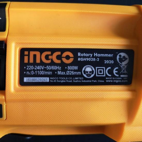 Πιστολέτο Περιστροφικό Κρουστικό SDS plus 800W RGH9028-2 INGCO