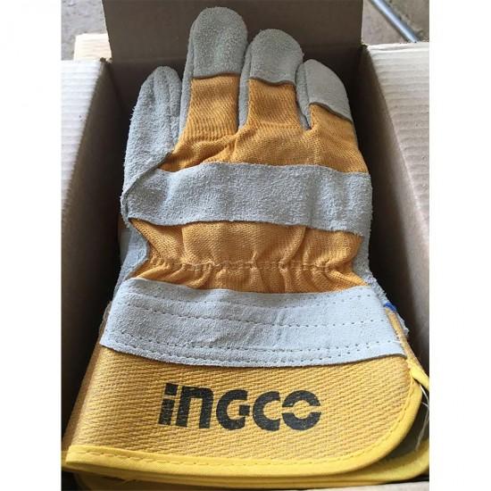Γάντια εργασίας Δερμάτινα HGVC01 INGCO