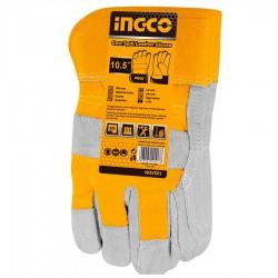 Γάντια εργασίας Δερμάτινα XL HGVC01P INGCO